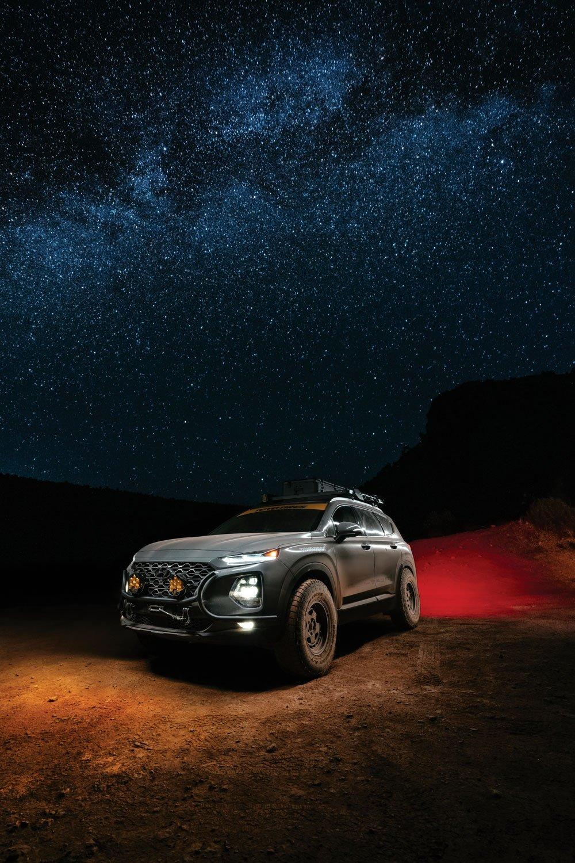 2020 Hyundai Santa Fe under the stars