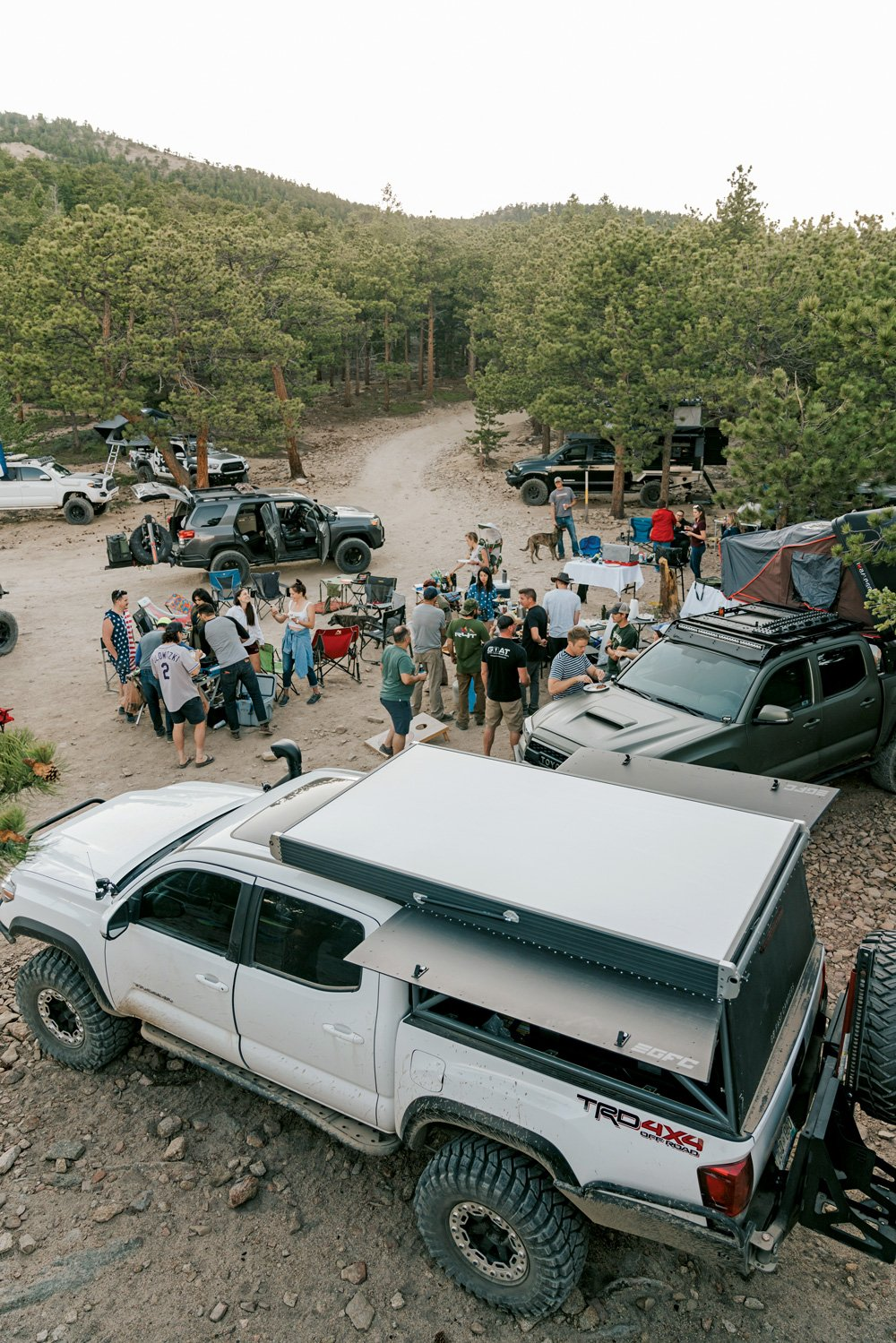 Campers gather to enjoy a delicious meal and make new friends