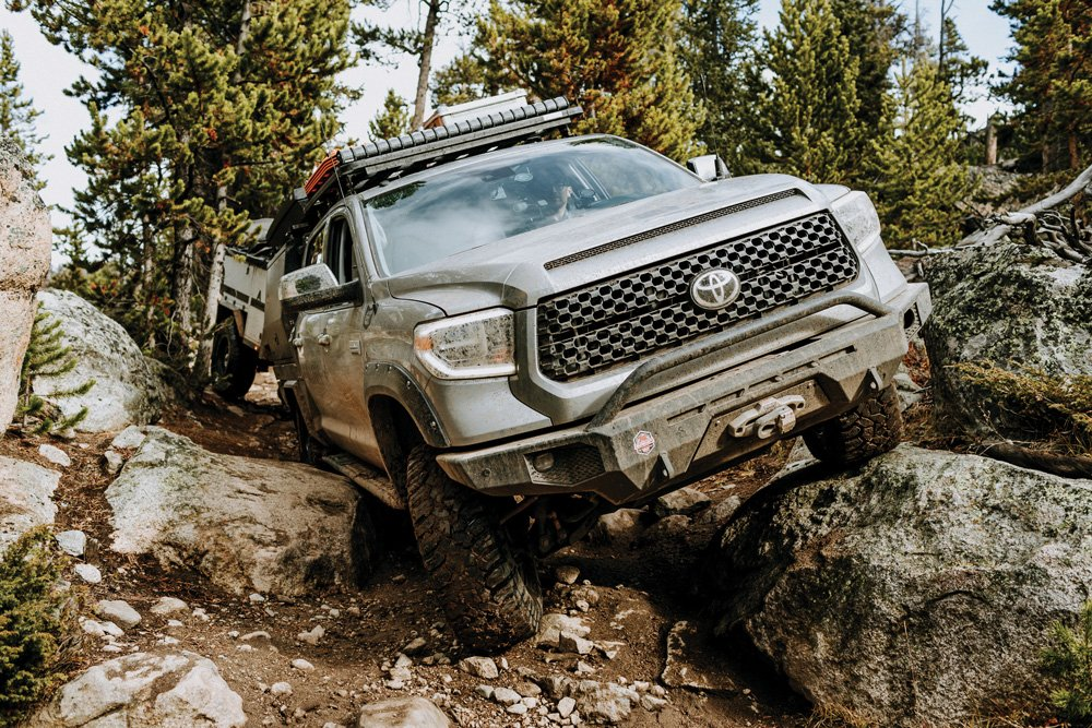 The Expedition Overland Tundra makes good use of the CBI rock sliders