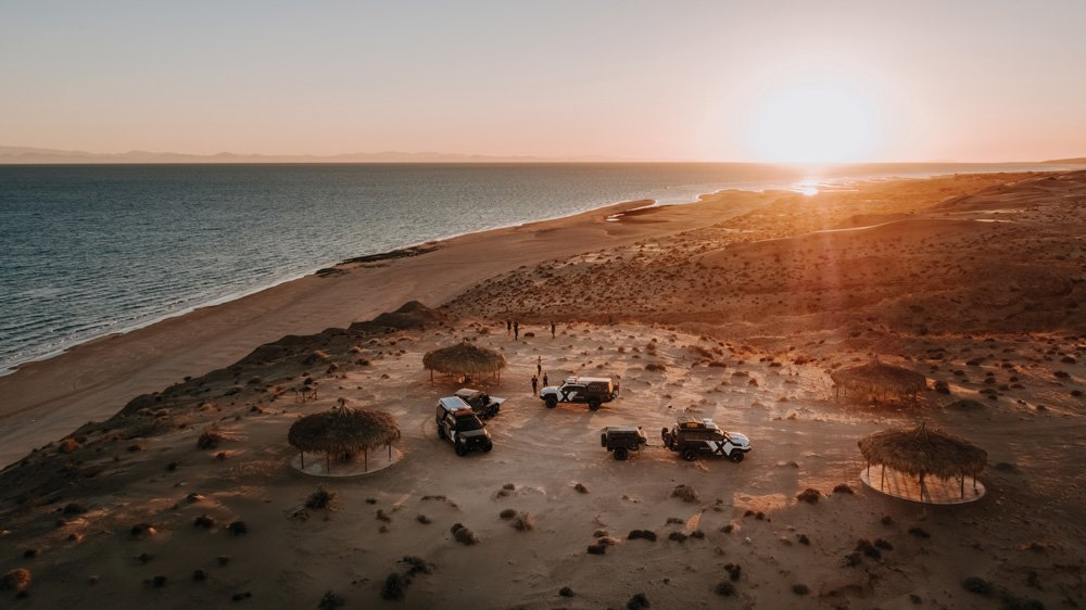 Beach camping on the Sea of Cortez, Sonora, Mexico.
