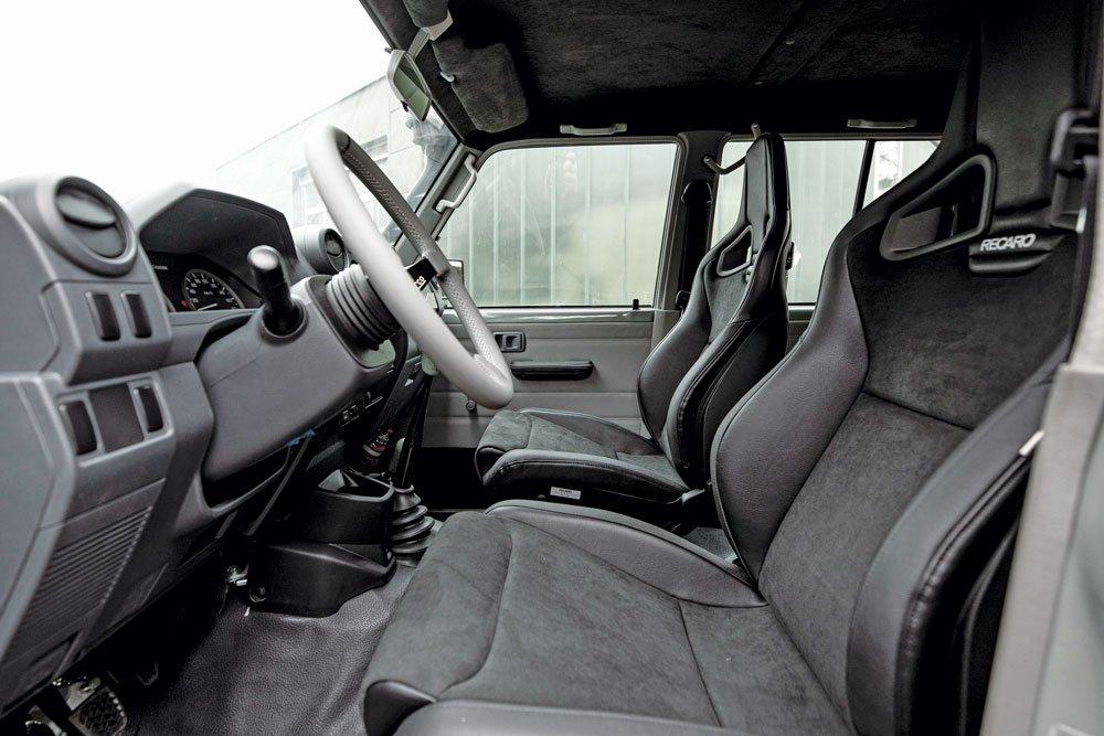 Maltec '93 Land Cruiser 80/79 series interior with Recaro Sportster CS seats
