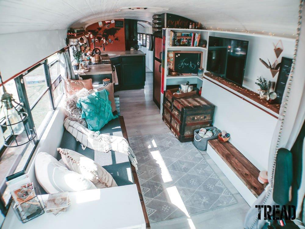 2004 International IC RE school bus interior lives large