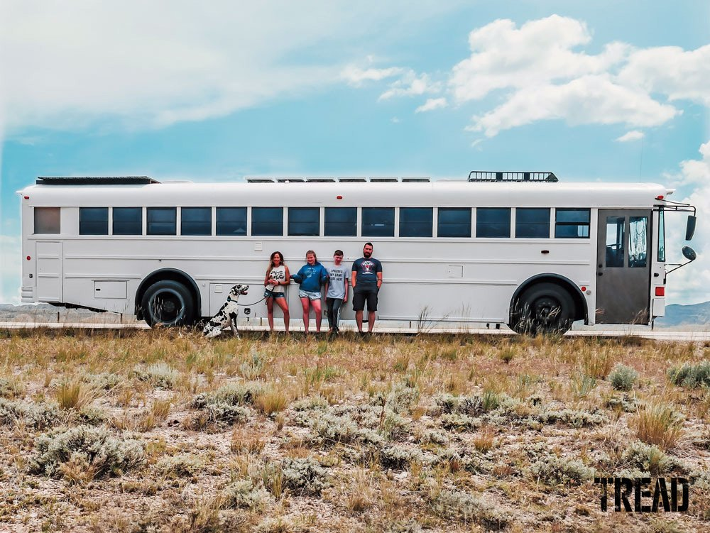 2004 International IC RE school bus retrofit, perfect for a family of four
