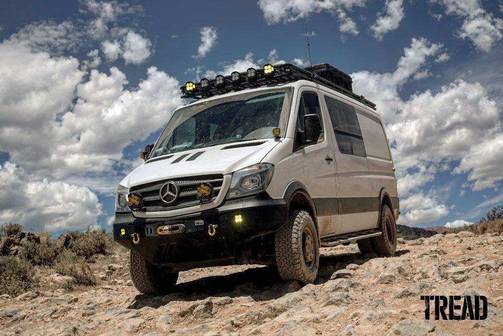 2018 Mercedes-Benz 4x4 3500 Sprinter van on rocky trail