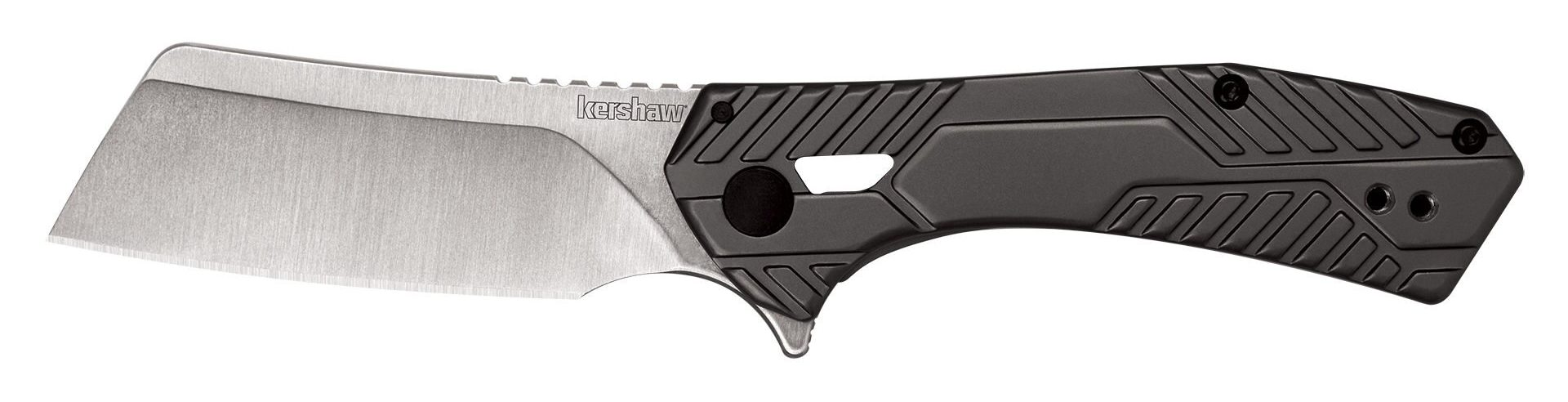 Pocket cleaver with black handle from Kershaw