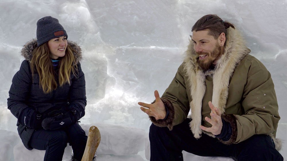 Local guide in Arctic Canada talks about embracing winter in Igloo.