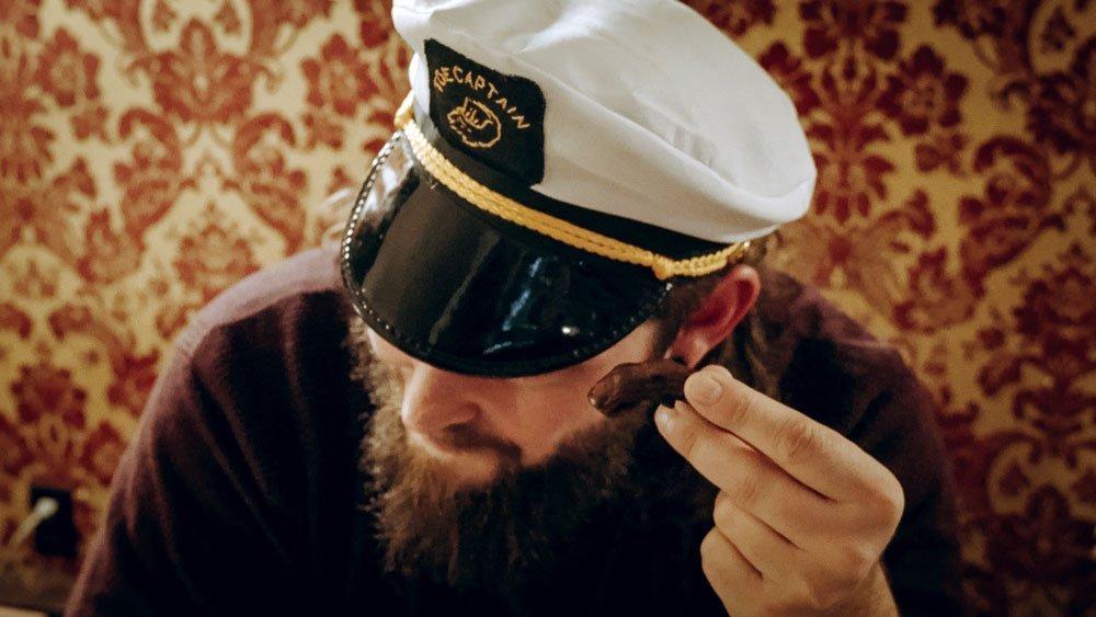 The Captain prepares us for the Sourtoe Cocktail in Dawson City, Yukon.