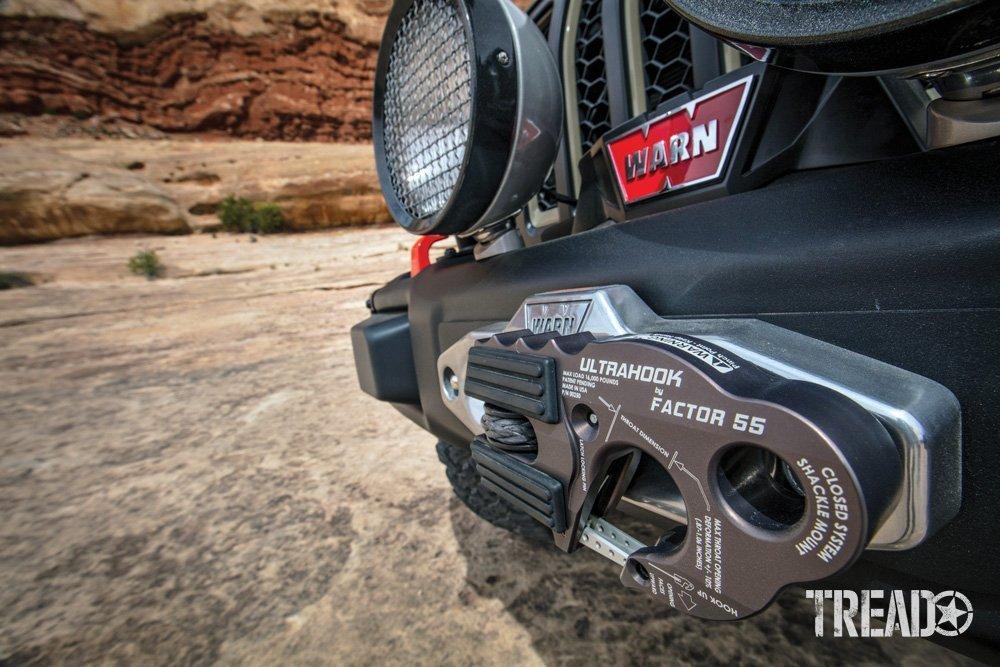 WARN winch and Factor 55 Ultrahook
