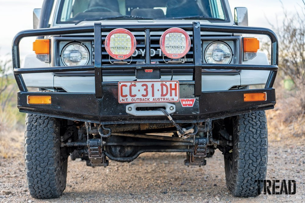 Land Cruiser Troop Carrier with 2-inch lift and BFG tires