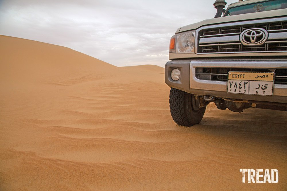 Sahara Desert and Land Cruiser