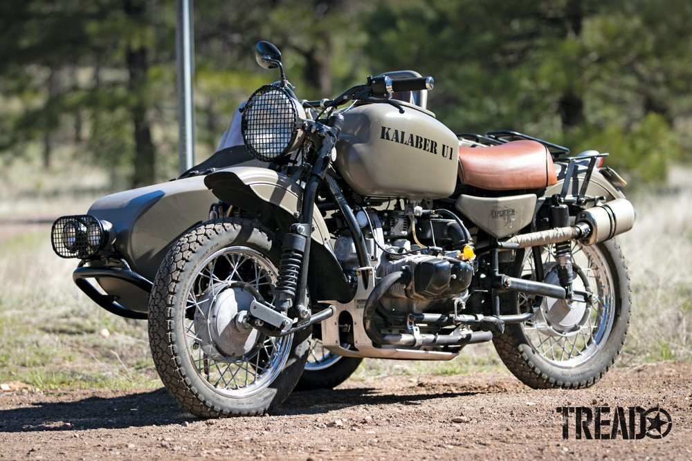 Kalaber Creations build a custom Ural motorcycle and sidecar, called U1.