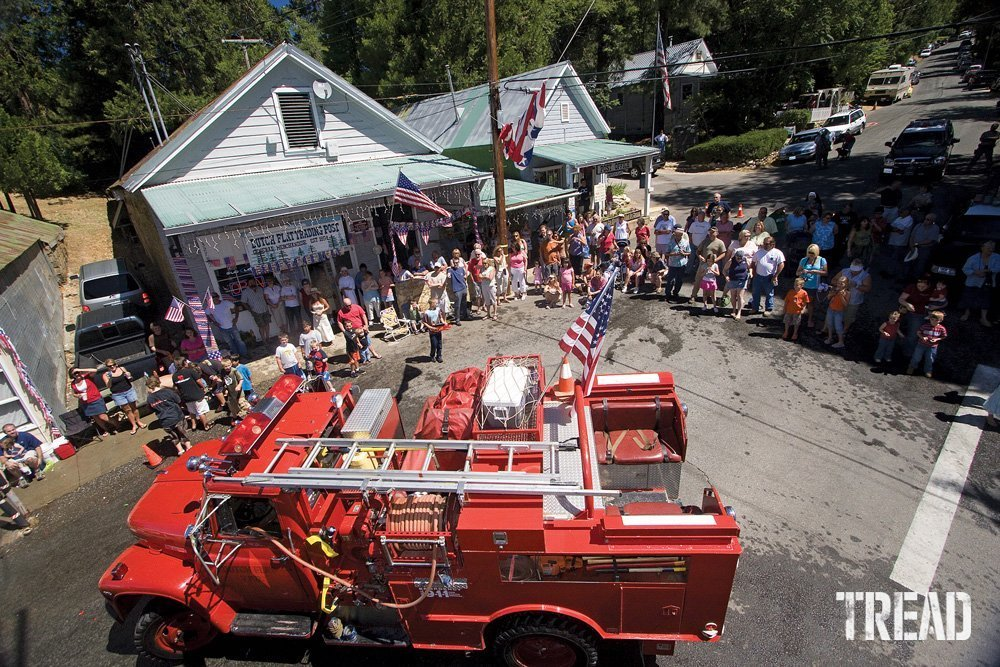 A scene from a Fourth of July parade in Dutch Flat, California.
