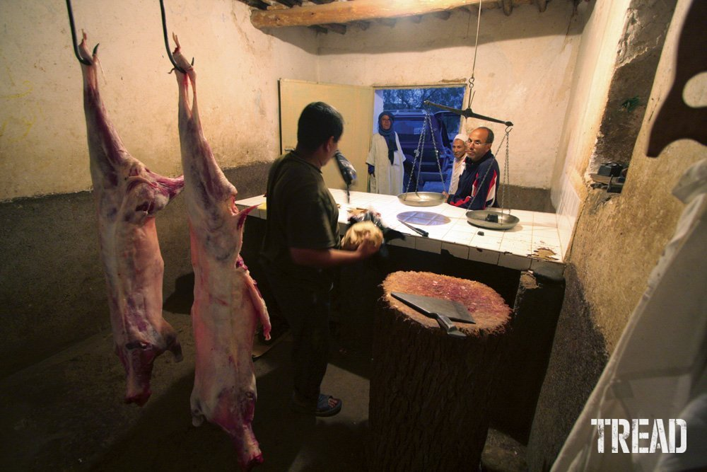 A local butcher shop in central Morocco.