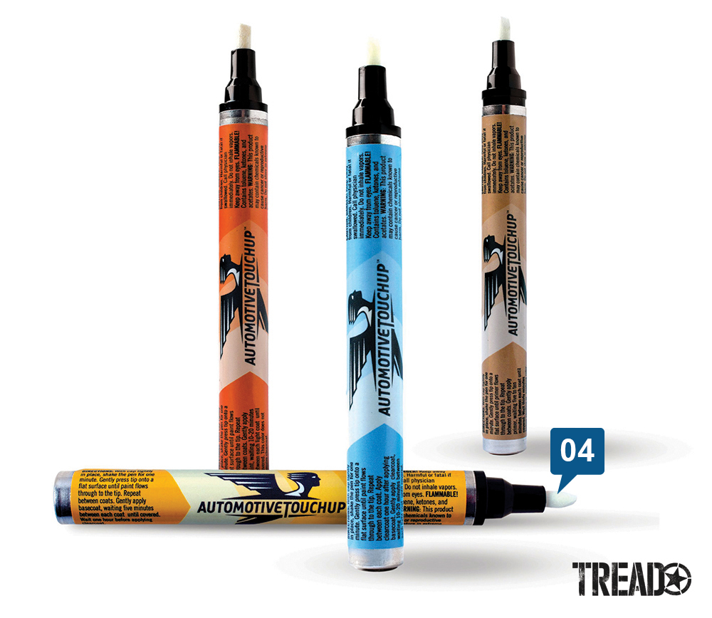 These high-quality automotive paint pens are formulated from the most comprehensive library of OEM colors in the industry. This creates an exact color match.