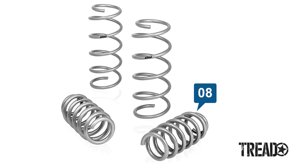 Eibach's Pro-Lift-Kit Crosstrek springs can give a 1-inch lift with these silver springs.