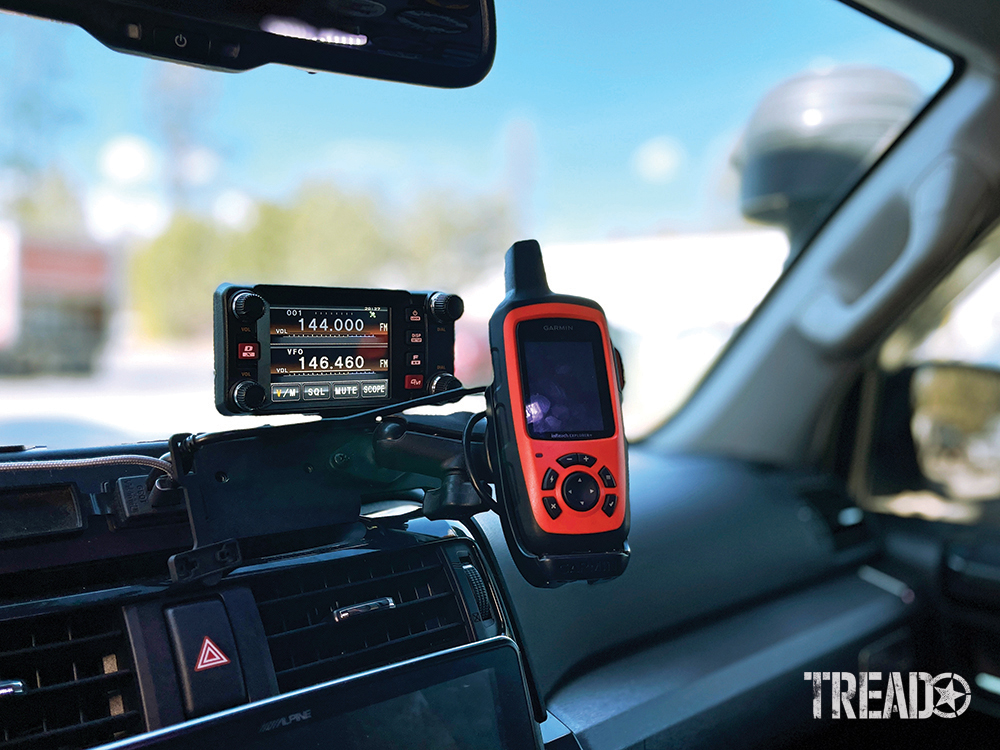 Aftermarket mounts are now available. They allow for several accessories to be near each other and within arm's reach of the driver, like with this two-accessory mount with one radio and one Garmin.