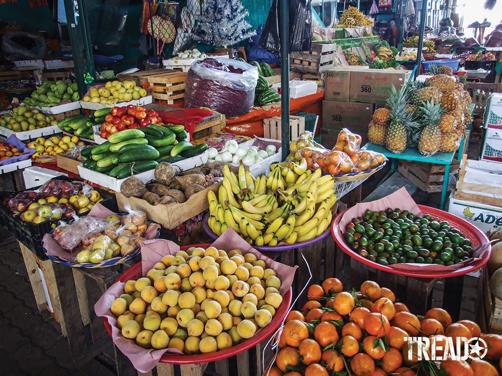 A wide variety of produce can be found at local Mexican markets.