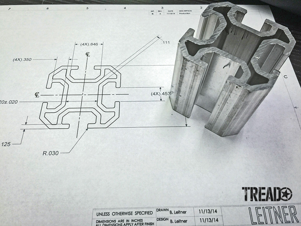 Blueprint designs of patented Leitner Designs Active Cargo System