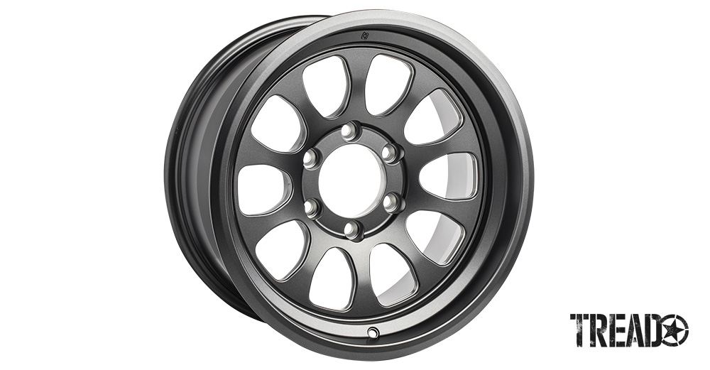 This premium sport, off-road wheel is one of the lightest of its kind in the world and is a fully forged gray wheel with anti-slip knurling for added traction, along with triangulated inner spoke machining to reduce weight while keeping a sturdy structure.