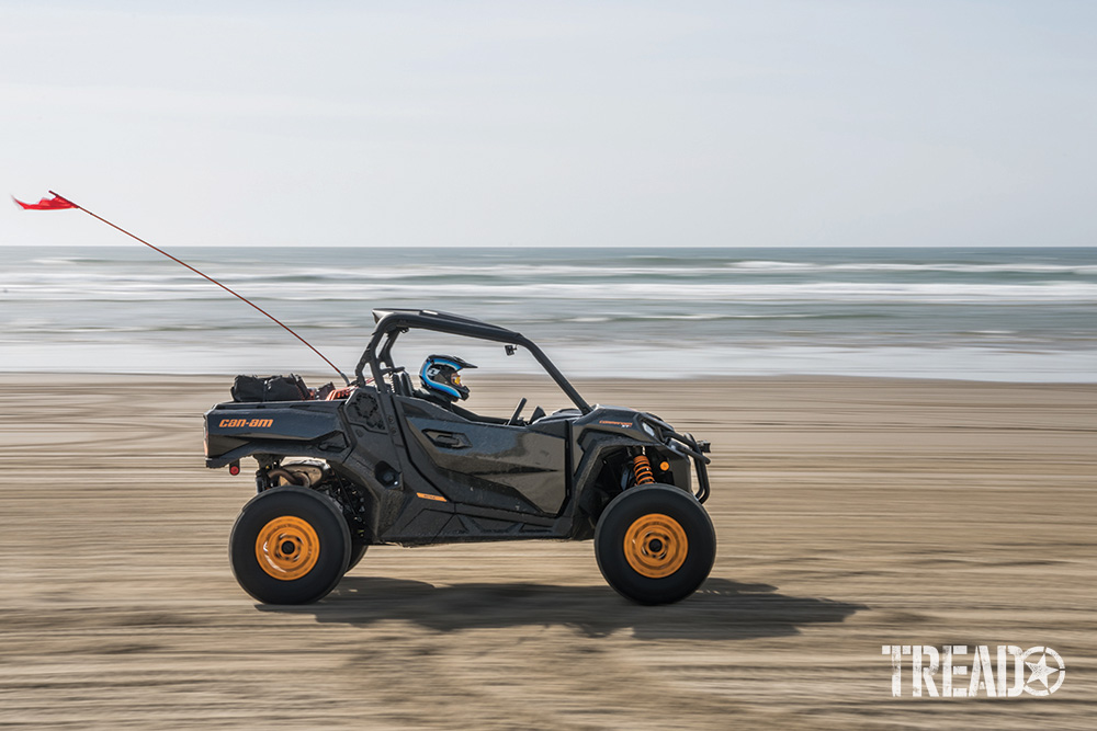 Can-Am Commander XT-P speeds on beach.