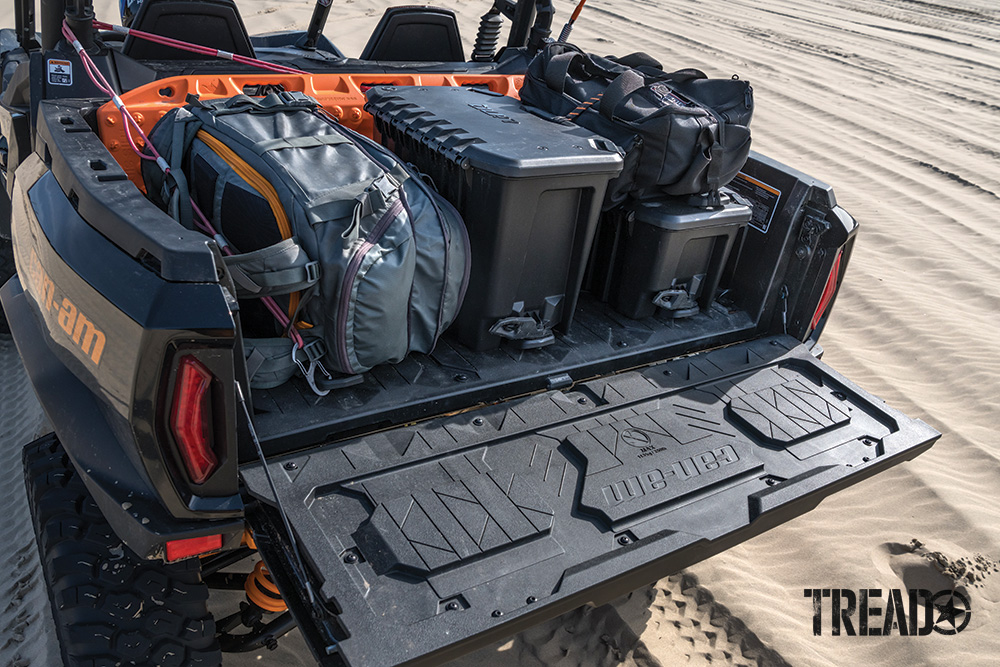 Can-Am Commander XT-P holds quite a bit of gear in the rear storage area.
