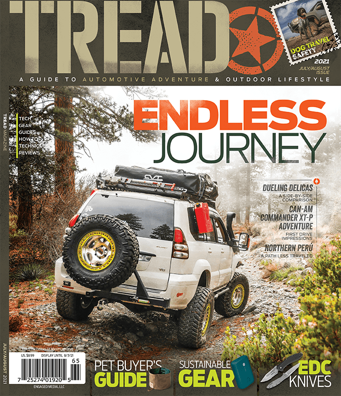 Tread Magazine July August 2021 Cover with Lexus GX470