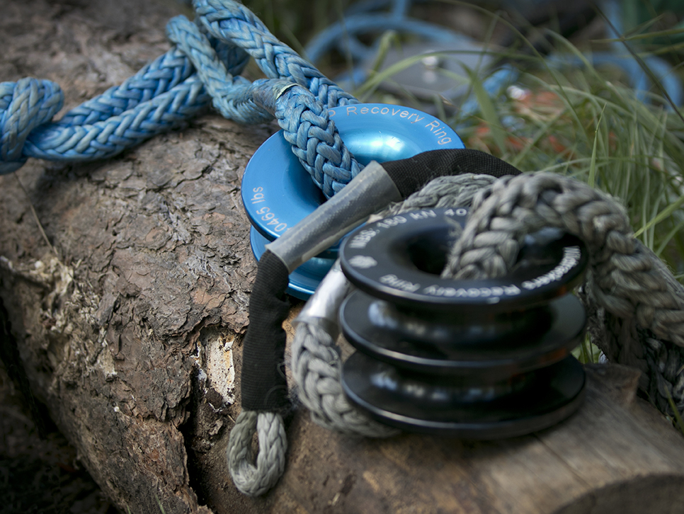 blue recovery ring and soft shackle