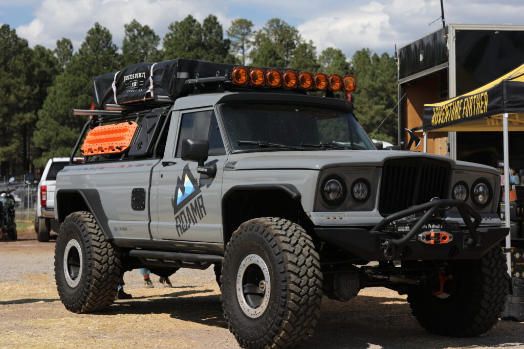 Gray Roamr truck at Overland Expo West 2021