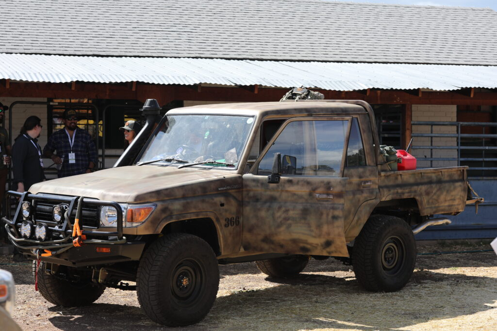 Land Cruiser in camoflauge at Overland Expo West 2021