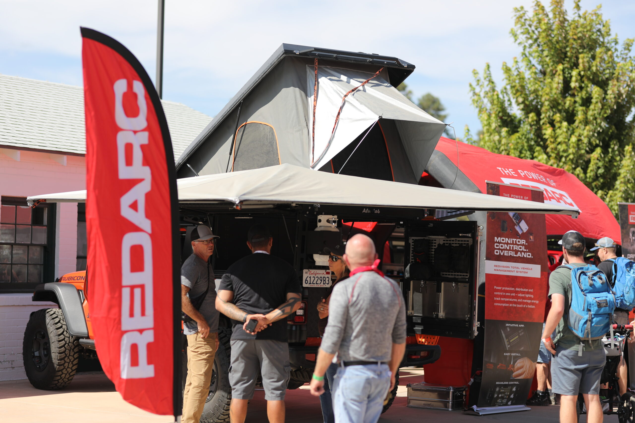 Redarc booth at Overland Expo West 2021
