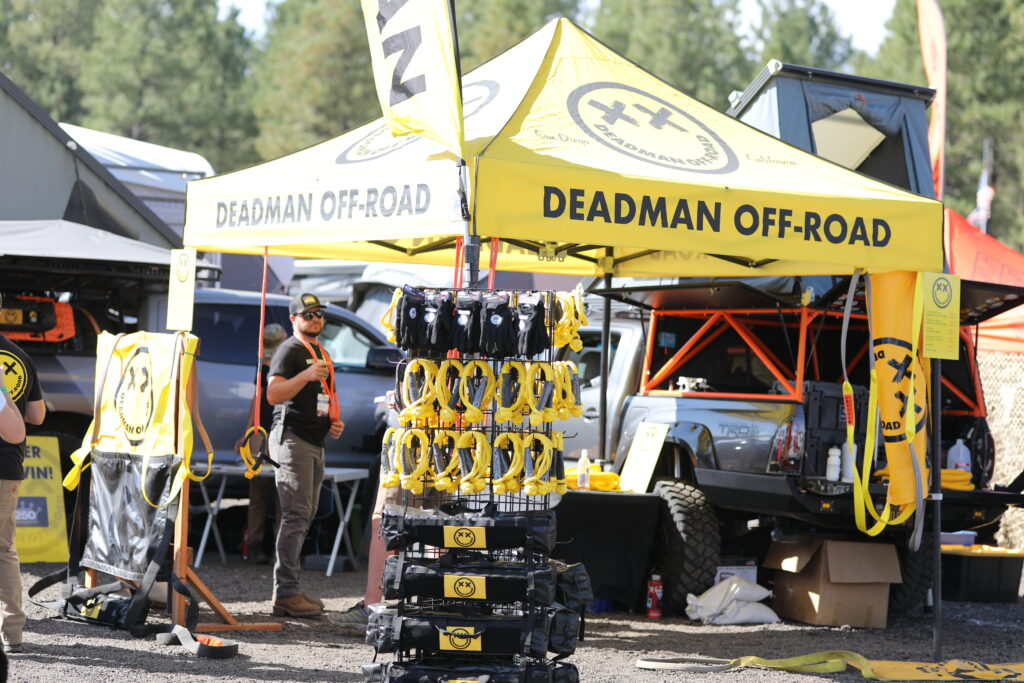 Deadman Offroad booth at Overland Expo West 2021